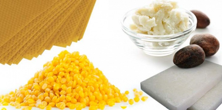Natural waxes butters